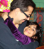 Dr. Neeraj Arora and his daughter Shairee, who was conceived after he was treated for non-Hodgkin lymphoma.