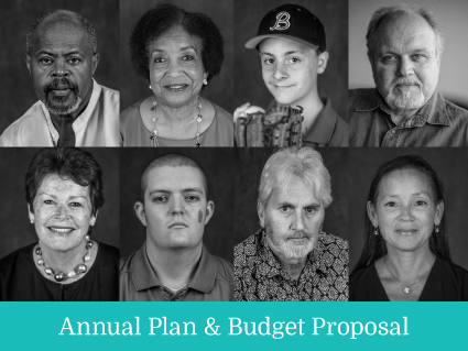 Cover of the Annual Plan and Budget Proposal FY 2020
