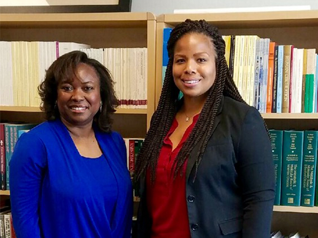 Dr. Monica L. Baskin  is pictured with Dr. Tiffany L. Carson