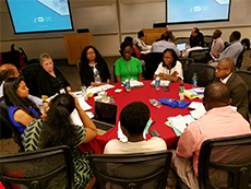 CRCHD Career Development and Scientific Workshop attendees participate in a group discussion