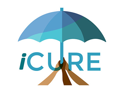 iCURE umbrella and hands