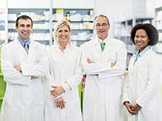 Group of people in lab coats