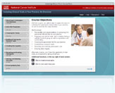 Screenshot of the Clinical Trials Course