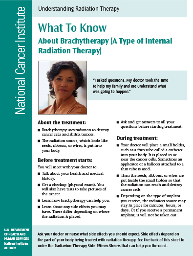 Understanding Radiation Therapy: What To Know About Brachytherapy Cover Sheet