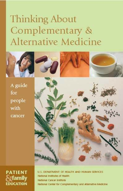 Thinking About Complementary and Alternative Medicine Cover Sheet