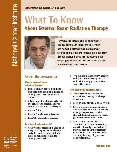 Understanding Radiation Therapy: What To Know About External Beam Radiation Therapy Cover Sheet