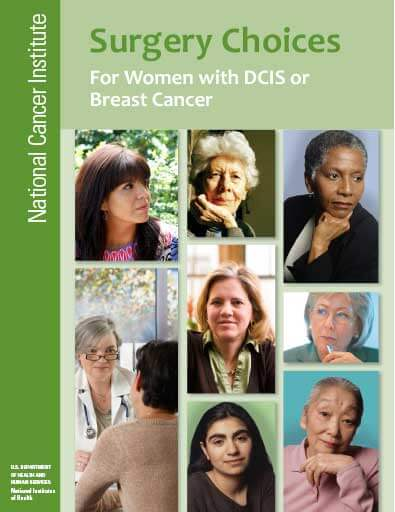 Surgery Choices for Women with DCIS or Breast Cancer Cover Sheet