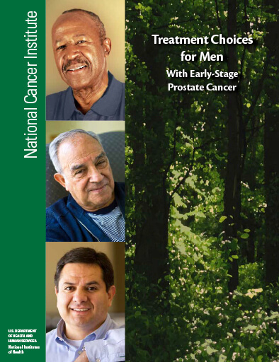 Treatment Choices for Men With Early-Stage Prostate Cancer Cover Sheet