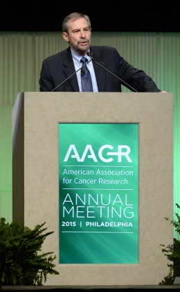 Dr. Doug Lowy speaking at the 2015 AACR annual meeting
