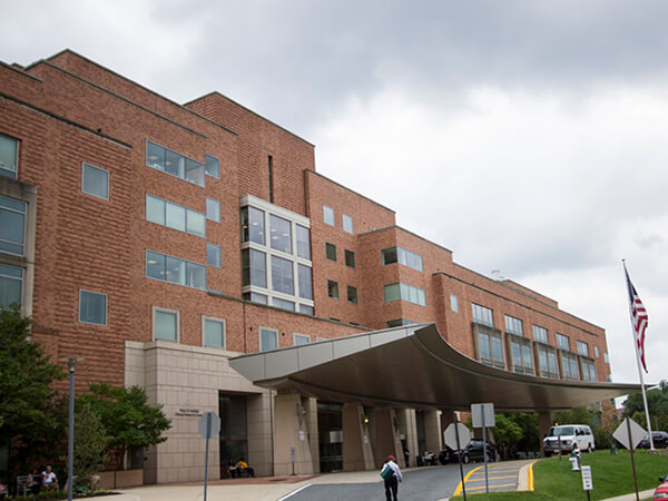Exterior image of NIH Clinical Center