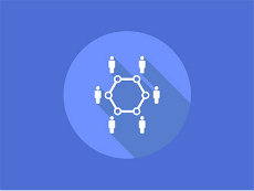Icon of people standing around a circle