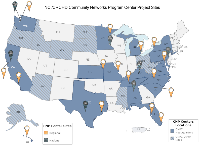 Community Networks Program Center Project Sites Map