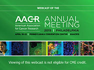 AACR Annual Meeting 2015