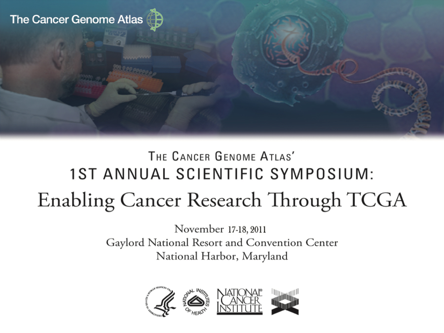 TCGA holds its first scientific symposium in 2011