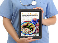 Doctor Holding Tablet Showing Eating Hints Patient Publication PDF