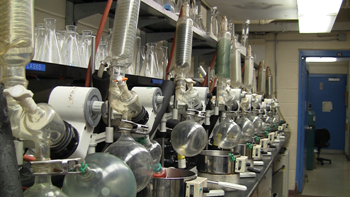 Various scientific equipment used in the natural products extraction process