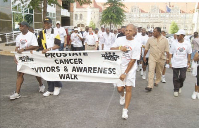 Men Walking for Prostate Cancer Awareness