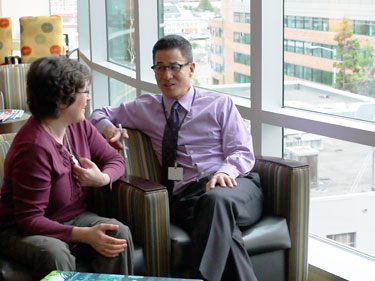 Dr. Anthony Back Talking to patient, Vanessa Jensen