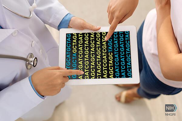 artistic representation of genomic sequencing