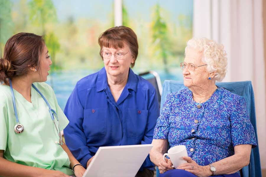 Doctor and Patient in Nursing Home