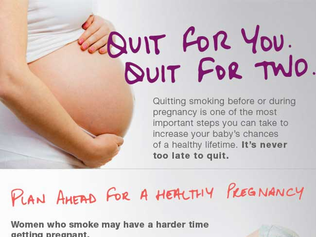 Pregnancy and Smoking infographic