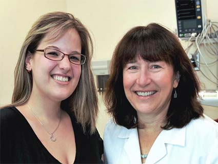 Wendy Stock, M.D., of the University of Chicago, and her patient Jenn Ferguson.