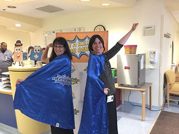 Becky Owens and Sara Rothschild at the NIH Clinical Center