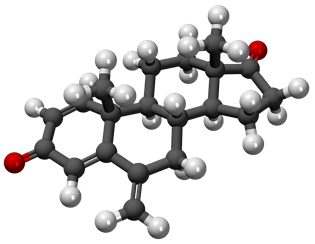 Ball and stick image of exemestane molecule