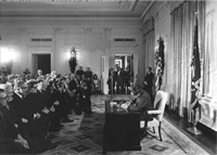 Signing the National Cancer Act