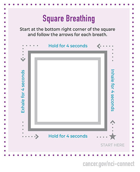 Square breathing technique to help with stress