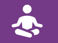 Person in yoga pose icon