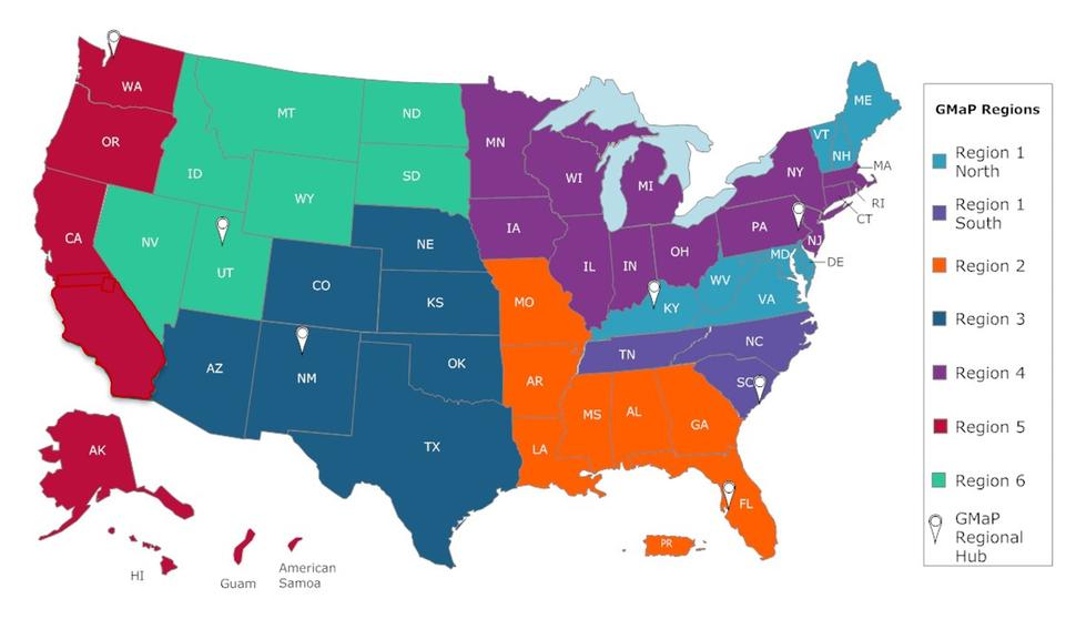 Map of Geographic Management of Cancer Health Disparities Programs (GMaP)