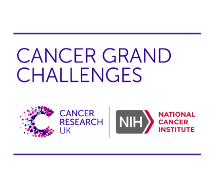 "Image reads ""Cancer Grand Challenges"" with the Cancer Research UK logo and National Cancer Institute logo"