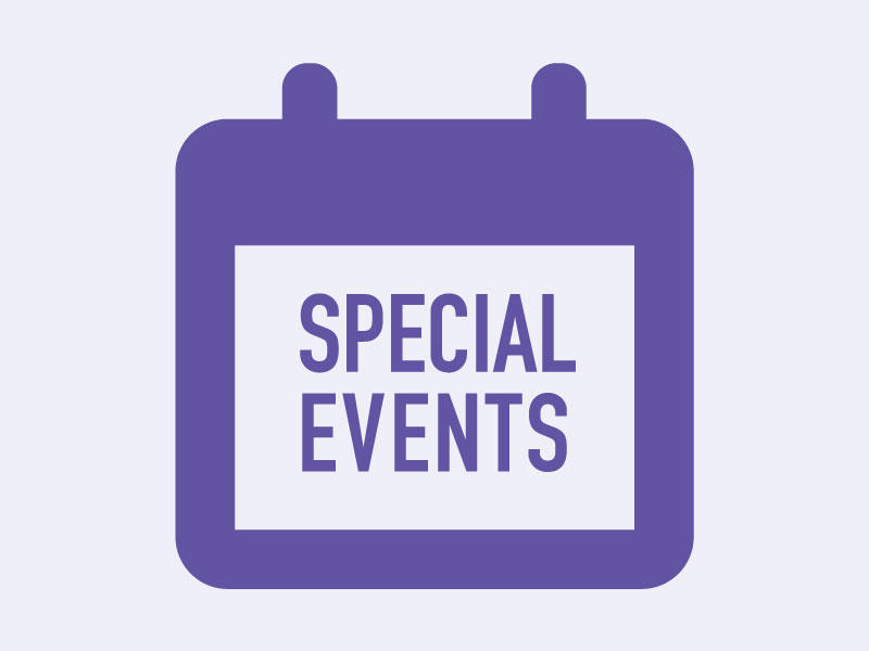 "Calendar icon with text ""Special Events"""