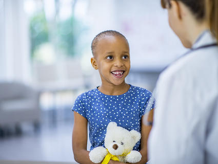 Child Patient with Bear