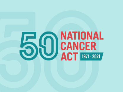Text graphic for 50th anniversary of the National Cancer Act
