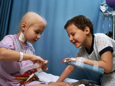 Two girls with ALL receiving chemotherapy