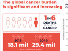 Cancer Statistics globally presented by Dr. Satish Gopal during LGCW 2020.