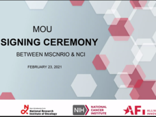 MOU Signing Ceremony between the U.S. NCI and Maria Sklodowska - Curie National Research Institute of Oncology (MSCNRIO), based in Warsaw, Poland